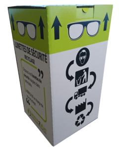 recycler les lunettes de sécurité