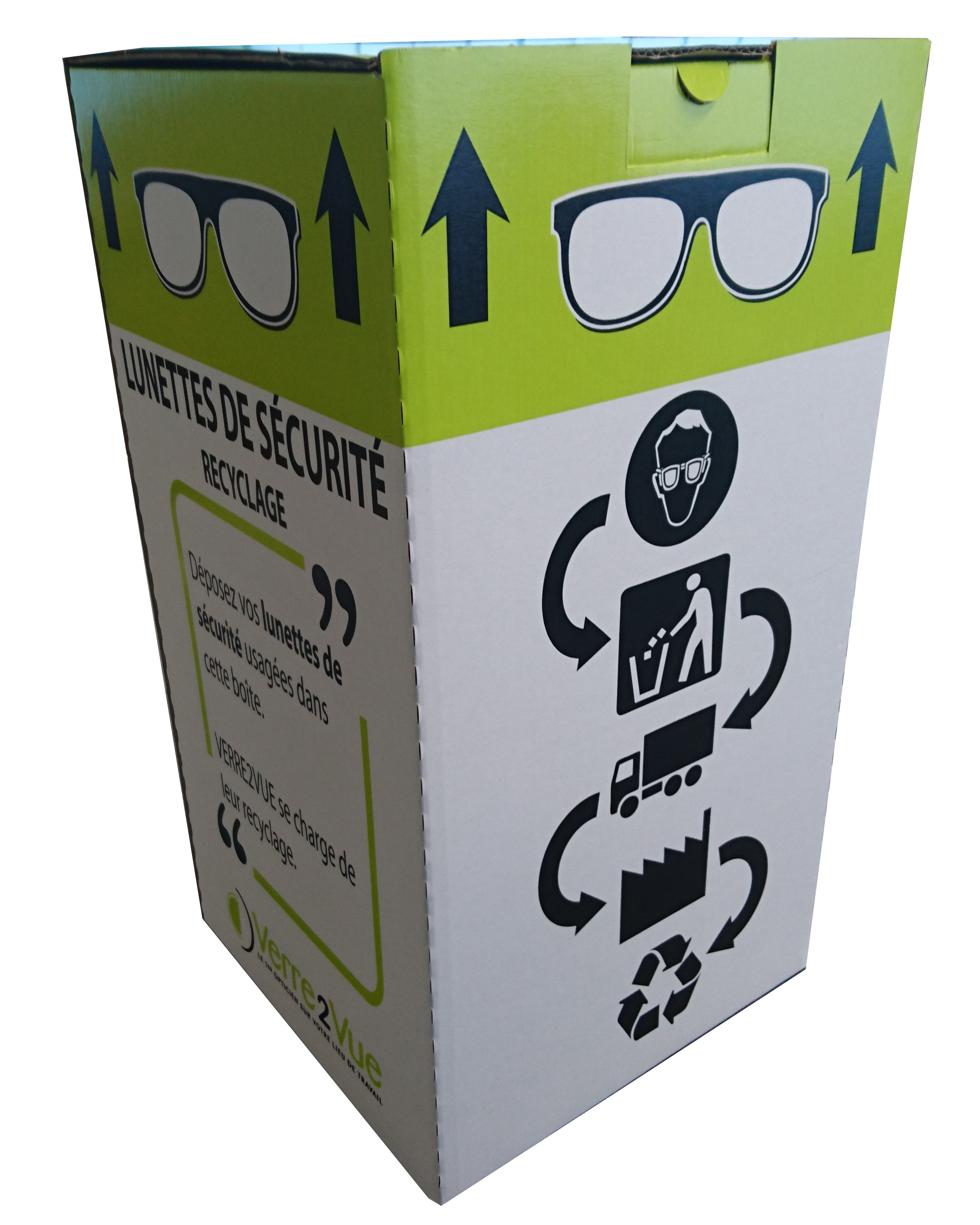 box recyclage lunettes de sécurité
